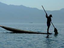 Granjero de Weed del lago Foto de archivo