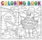 Granjero del libro de colorear con la cosecha 2