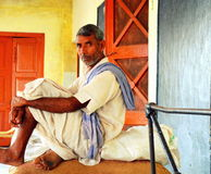 Granjero en la India Imagen de archivo libre de regalías