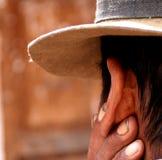 Granjero en los Andes Imagenes de archivo