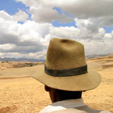 Granjero en los Andes, Perú Imagen de archivo