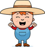 Granjero Excited del niño stock de ilustración