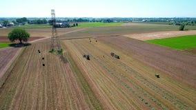 Granjero Harvesting Crop Drone de Amish