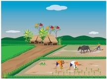 Granjero Plowing libre illustration
