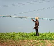 Granjero, savia de Tonle, Camboya Fotos de archivo