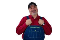 Granjero, trabajador, trabajador o jardinero de la clase media foto de archivo libre de regalías