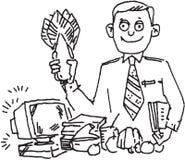 Granjero y ordenador Imagen de archivo libre de regalías
