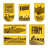 Granjeros con las insignias de los campos libre illustration