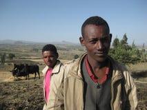 Granjeros etíopes fotografía de archivo