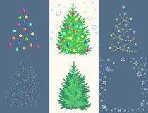 Granleksakuppsättning med bollen, girland, snöflinga, stjärna Royaltyfria Foton