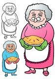 Grannie made a pie for all the kids Stock Photo