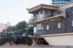 The Grannies Pool lifesaver's station on the Umhlanga Rocks beach Stock Photography