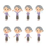 Granny. In different expressions Royalty Free Stock Images