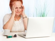 Granny confused stock photos
