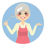 Granny Cooking Royalty Free Stock Photo