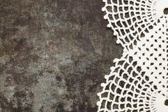 Granny crochet old sheet metal background Stock Photo