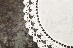 Granny crochet old sheet metal background Stock Image