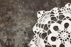 Granny crochet old sheet metal background Stock Photo
