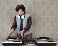Granny dj Stock Photo