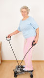 Granny do morning exercise Royalty Free Stock Images