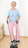 Granny do morning exercise Royalty Free Stock Photo