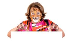 Granny with face-paint stock photography