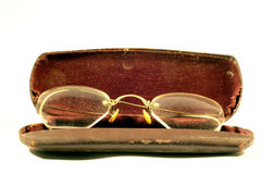 Granny Glasses. Old pair of frameless glasses.  Camera: Nikon D70 Royalty Free Stock Photography