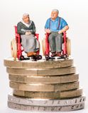 Poverty in old age Royalty Free Stock Image