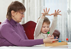 Granny and grandson Royalty Free Stock Photography