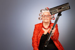 Granny housewife Stock Image