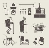 Granny icons Stock Images