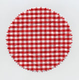 Granny jam checkered fabric cloth Royalty Free Stock Image