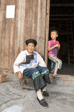 Granny and kids Of Miao Minority Royalty Free Stock Images