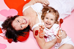 Granny and little girl Royalty Free Stock Image