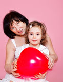 Granny and little girl Stock Image