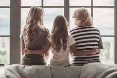 Granny, mom and daughter Stock Photography