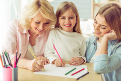Granny, mom and daughter Royalty Free Stock Images