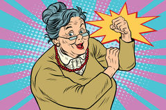 Granny old lady We can do it Royalty Free Stock Image