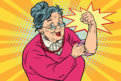 Granny old lady We can do it. Pop art retro vector illustration Stock Photos
