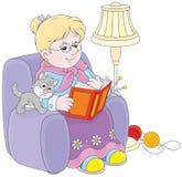 Granny reading Stock Image