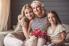 Granny`s holiday greetings Royalty Free Stock Photography
