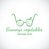 Granny's vegetables concept symbol icon Royalty Free Stock Photo