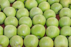 Granny Smith. Green apples at market Stock Photography