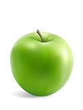 Granny Smith Apple. Isolated on white background with soft shadow Stock Photos