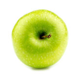 Granny smith apple lying on its side Royalty Free Stock Photos