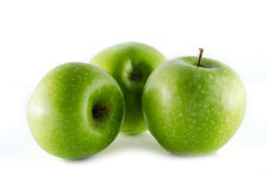 Granny Smith Apples Isolated On White Background Stock Photos