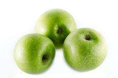 Granny smith apples isolated on white background Royalty Free Stock Photos
