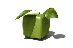 Granny Smith cube Stock Photo