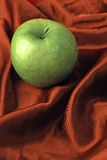 Granny Smith FOOD ART. Food StillLife. Food Art.  Granny Smith on Satin Royalty Free Stock Photo