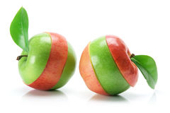 Granny Smith and Gala Apples Royalty Free Stock Images